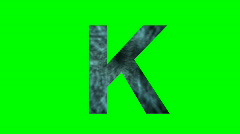 "Stock Video Footage of ""K"" Chromakey Green Screen Animated Fire Snow Water Explosion Lettering"