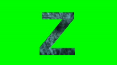 """Z"" Chromakey Green Screen Animated Fire Snow Water Explosion Lettering - stock footage"