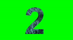 """""""2"""" Chromakey Green Screen Animated Fire Snow Water Explosion Lettering Stock Footage"""