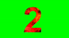 """2"" Chromakey Green Screen Animated Fire Snow Water Explosion Lettering - stock footage"