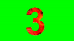 """3"" Chromakey Green Screen Animated Fire Snow Water Explosion Lettering - stock footage"