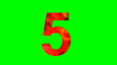 """5"" Chromakey Green Screen Animated Fire Snow Water Explosion Lettering - stock footage"