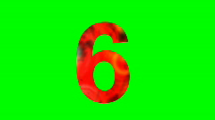 """6"" Chromakey Green Screen Animated Fire Snow Water Explosion Lettering - stock footage"