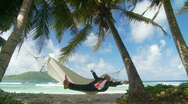 Relaxing in paradise Stock Footage