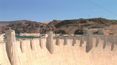 Hoover Dam and Power lines Stock Footage