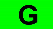 "Stock Video Footage of ""G"" Chromakey Green Screen Animated Fire Snow Water Explosion Lettering"
