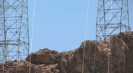 Hoover Dam Power Lines in Nevada Stock Footage