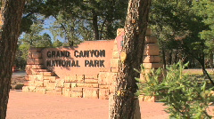 Grand Canyon National Park Entrance sign Stock Footage