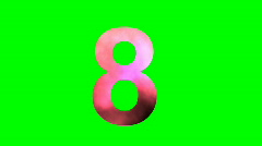 """""""8"""" Chromakey Green Screen Animated Fire Snow Water Explosion Lettering Stock Footage"""