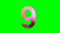 """""""9"""" Chromakey Green Screen Animated Fire Snow Water Explosion Lettering Stock Footage"""