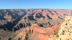 Grand Canyon Viewpoint on South Rim in Arizona Stock Footage