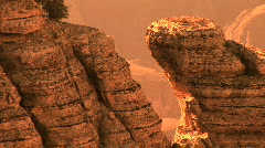 Grand Canyon National Park at Sunset, zoom out Stock Footage