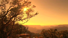 Scenic Grand Canyon Sunset, orange - stock footage