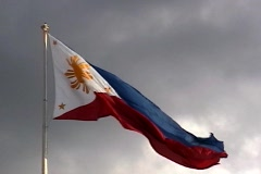 Philippines Flag . Stock Footage