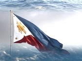 Stock Video Footage of Philippines flag with water up and down