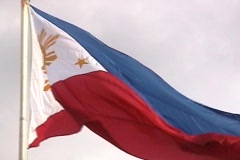 Philippines Flag close up Stock Footage