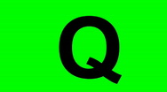 "Stock Video Footage of ""Q"" Chromakey Green Screen Animated Fire Snow Water Explosion Lettering"