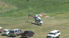 Helicopter med evac take off M HD Stock Footage