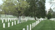Stock Video Footage of Pan of headstones at Arlington National Cemetery