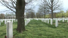 Arlington National Cemetery Slow Zoom Stock Footage
