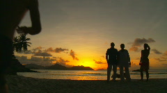 Get together in the sunset Stock Footage