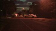 Police Car Road Block Stock Footage