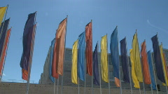 Colorful banners waving  Stock Footage