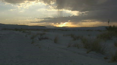 Sunset at White Sands New Mexico Stock Footage