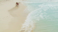 Walking in bathing clothes Stock Footage