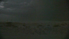 Lightning at dusk over the White Sands Stock Footage