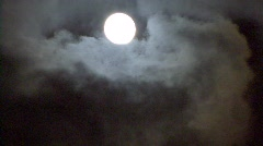 Full Moon And Clouds Stock Footage