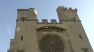 Cathédrale Saint-Nazaire-et-Saint-Celse de Béziers Stock Footage