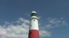Lighthouse on Portland Bill in Dorset England Stock Footage