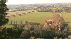 View of countryside outside Beziers, France Stock Footage