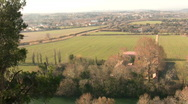 Stock Video Footage of View of countryside outside Beziers, France