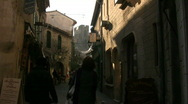 Shoppers in Carcassonne  Stock Footage
