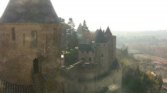 View of Carcassonne - stock footage