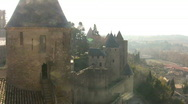 View of Carcassonne Stock Footage