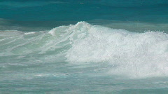 pan shot whitecaps slo mo - stock footage
