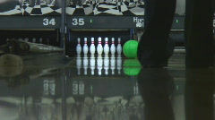 Low angle shot compilation of amateur bowling Stock Footage