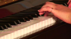 Jm479-Piano Hands Stock Footage