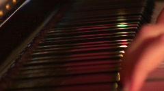 Jm483-Piano Black Keys Stock Footage
