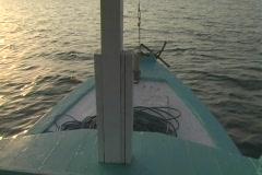 Boat near Komodo Island Stock Footage