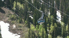 Snowbird blue tram up mountain in summer M HD Stock Footage