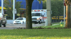 Ambulance Rushes To Hospital Stock Footage