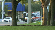 Ambulance Rushes To Hospital Stock Footage