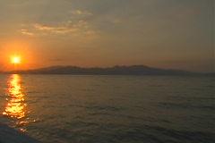 Komodo Island at sunset Stock Footage
