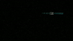 High Defintion view of outer space - stock footage