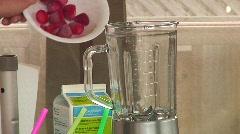 Jm499-Smoothee Ingredients Stock Footage