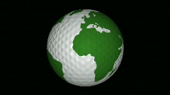 High Defintion Golf Ball Spinning - stock footage